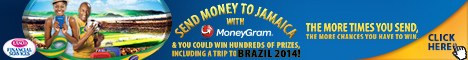 Send money to Jamaica with MoneyGram & WIN hundreds of prizes including a trip to Brazil 2014!