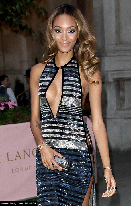 Jourdan sparkles in sequins at GQ Awards