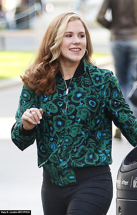 Katy B rocks floral print for day of promos