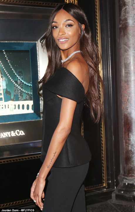 Jourdan Dunn turns heads at Tiffany & Co